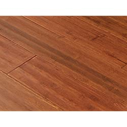 AMERIQUE FUDBSR-CTN Distressed Hand-Scraped Bamboo Flooring, 25.80 sq. ft., Satin Red (One Carton)