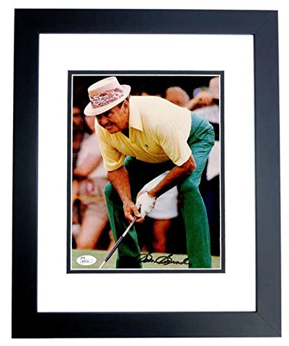 (Sam Snead Signed - Autographed Golf 8x10 inch Photo BLACK CUSTOM FRAME - Deceased 2002 - JSA Certificate of Authenticity)