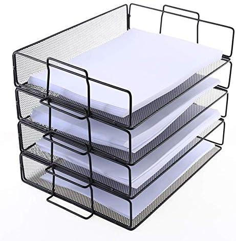 AGWa Paper Office Organizer Papierbuchumschlag Datei Füllfach Broschüre Rack Regalhalterung Metalldrahtnetz Aufbewahrungshalter
