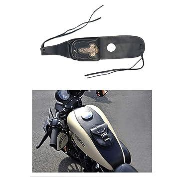 Funda de Cuero para depósito de Gas con Funda para Harley Sportster XL 883 1200, Color Negro: Amazon.es: Coche y moto