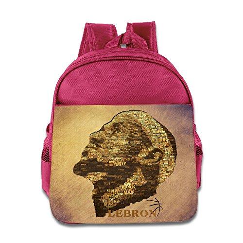 Jade Custom Superb 23# Basketball Player Kids Children School Bagpack For 1-6 Years Old Pink
