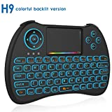 Mitid RGB Colorful Backlit Mini Keyboard with Touchpad 2.4G Wireless for Google / Android TV Box, Smart TV, HTPC, IPTV (Updated Version)