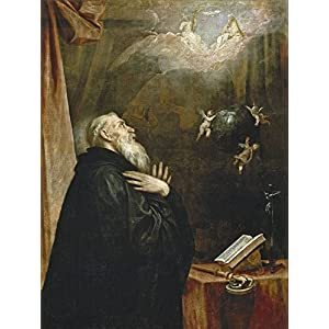 'Cano Alonso Saint Benedict's Vision Of The Globe And The The Three Angels 1658 60 ' Oil Painting, 24 X 32 Inch / 61 X 81 Cm ,printed On Perfect Effect Canvas ,this Cheap But High Quality Art Decorative Art Decorative Prints On Canvas Is Perfectly