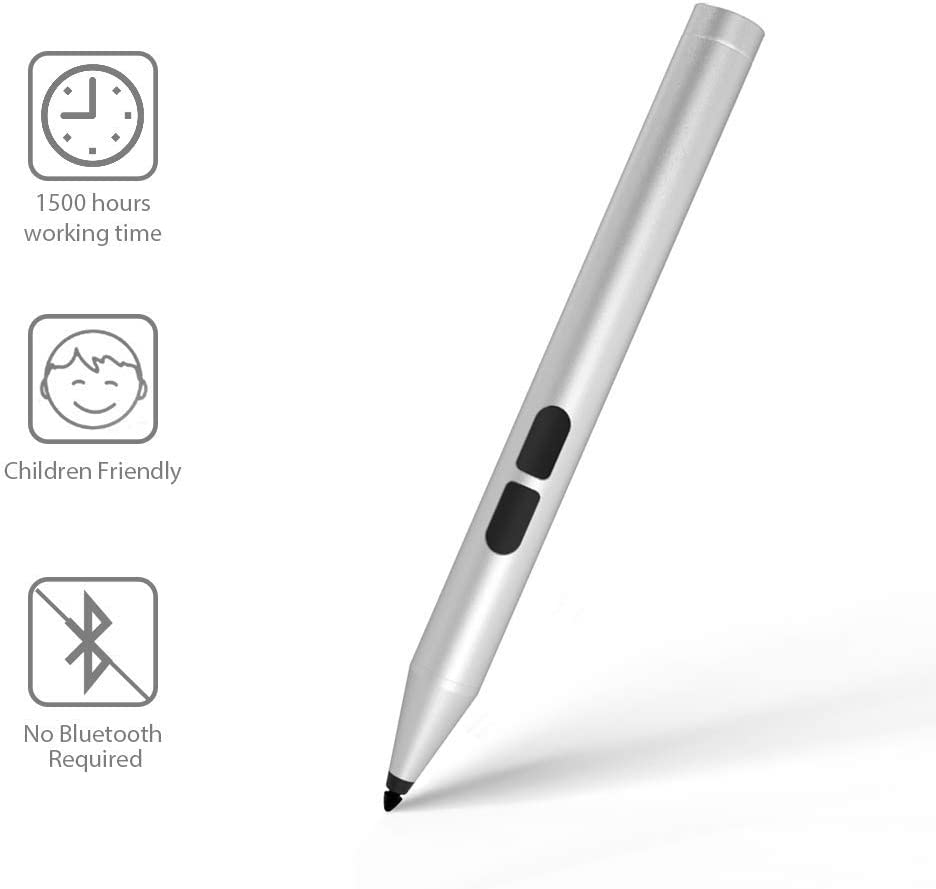 Uogic Pen for Surface, Classroom Pen for Kids, 1500 Working Hours, 2H Tip, with AAAA Battery, for Surface Pro 7/6/5/4/3, Surface Laptop 3/2/1, Surface Book 2/1, Surface Go, Studio 2/1