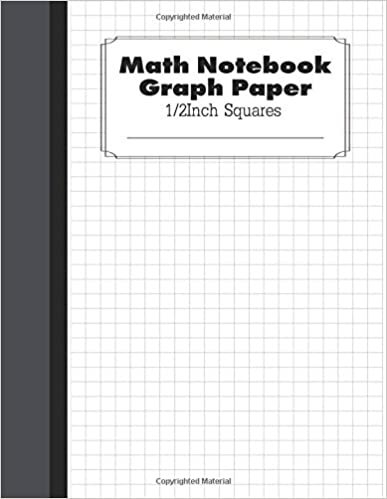 math notebook graph paper graph composition large size 8 5x11