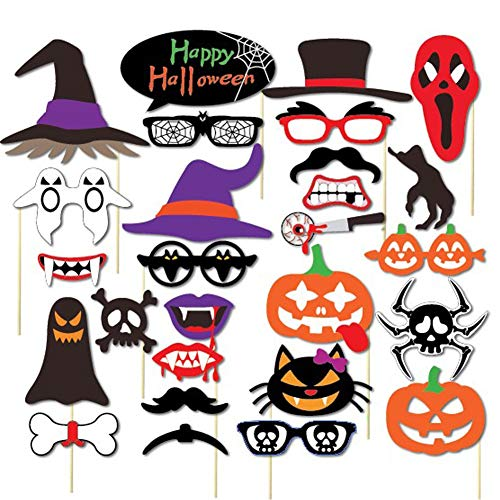 Easy Halloween Props - LuckyZhang Halloween Photo Booth Party Props,
