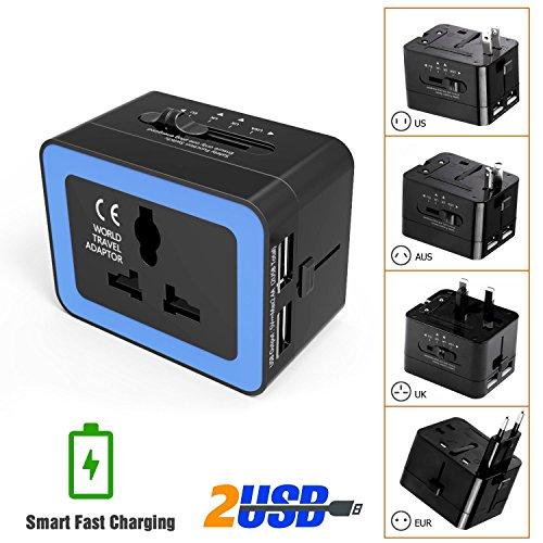 LURICO Worldwide Travel Adapter Plug,Universal All In One Wa