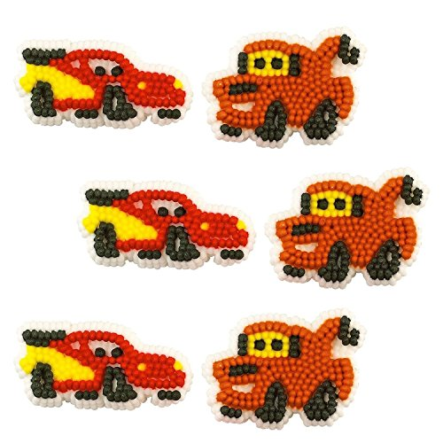 [Wilton BB7106400 Disney Cars Edible Icing Decorations] (Ideas For Homemade Group Halloween Costumes)
