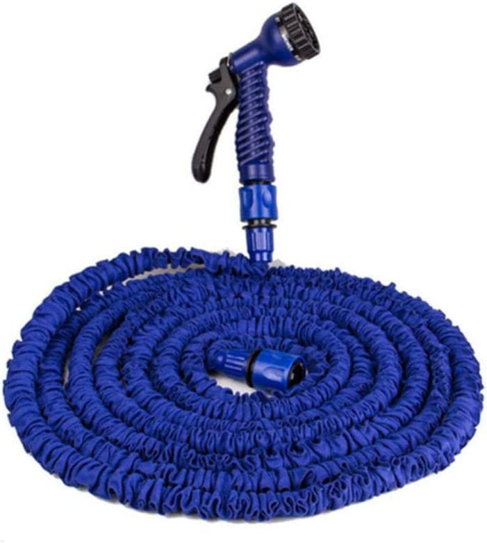 Garden Magic Hose, Water Hose Pipe, Flexible Hose Expandable Garden Hose Reel Truck Water Connector, Spray Pipes Easy Storage Blue hose set