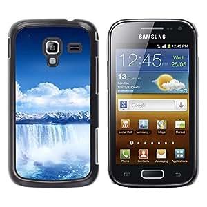 YiPhone /// Prima de resorte delgada de la cubierta del caso de Shell Armor - Waterfall Blue Africa;; - Samsung Galaxy Ace 2 I8160 Ace II X S7560M