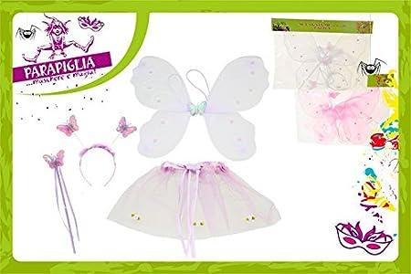 Kit 4pz Travestimento FARFALLA Ali Gonna accessori costume Carnevale bambina
