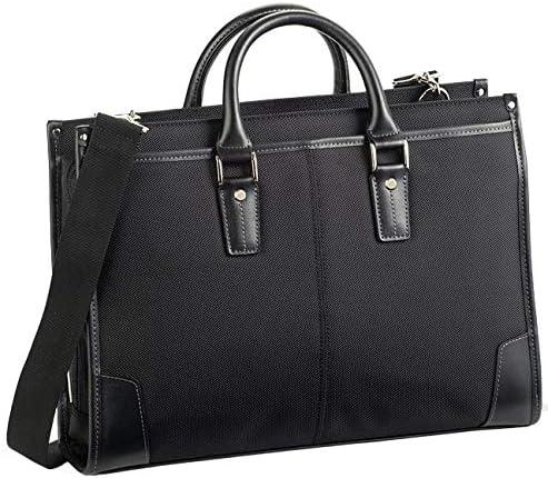 平野鞄 ビジネスバッグ ブリーフケース メンズ A4 A4ファイル 2way 自立 ショルダーベルト 大開き リクルートバッグ リクルート 就活 通勤 ビジネス ブラック 黒 横幅39cm +オリジナル高級ムートングローブ