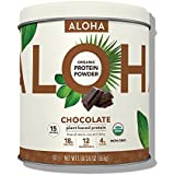 ALOHA Organic Plant Based Protein Powder, Stevia Free, Chocolate, 19.6 oz, 15 Servings (Packaging May Vary)