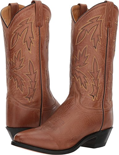 Old West Tan Canyon Womens Polanil Leather 11in Round Toe Cowboy Boots 7.5 M