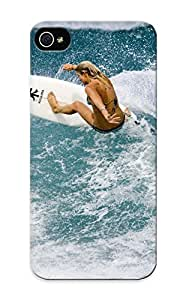 Case For Iphone 5/5s Tpu Phone Case Cover(girl Surfing Sports Ocean ) For Thanksgiving Day's Gift