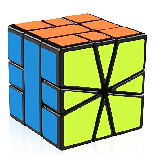 D-FantiX Yj Guanlong SQ-1 Non-cubic Speed Cube Square-1 Cube Shapes Puzzles Black