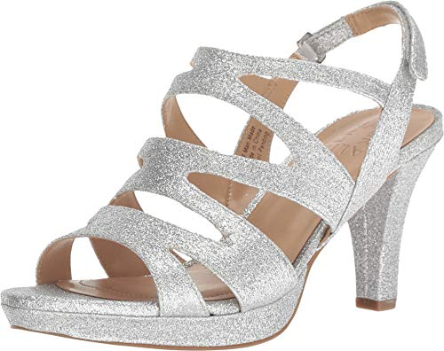 (Naturalizer Women's Pressley Silver Mini Glitter 10 M US M (B))