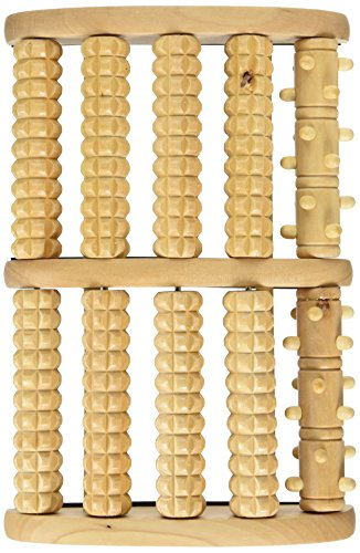 Bamboo Dual Foot Massager Roller for Refresh (Big)