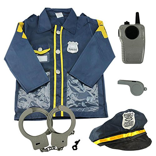 [Child Care Experience Workplace Kindergarten Role Game Playing Service Police Nurse Fireman Chef (policeman] (Policeman Uniform)