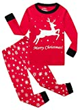 IF Pajamas Christmas Little Girls Boys Gift Pjs 100% Cotton Long Sleeve Kids Toddler Sets Size Red 4T