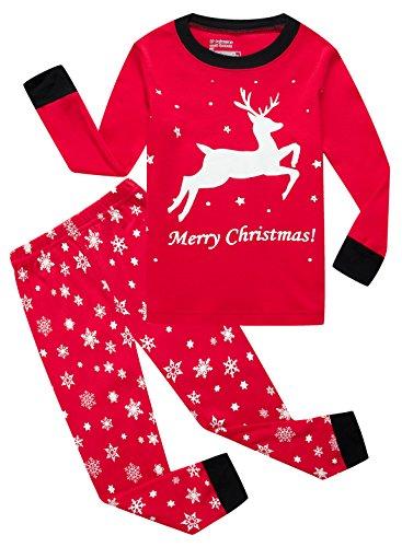 IF Pajamas Christmas Little Girls Boys Pjs 100% Cotton Long Sleeve Kid Pajamas Sets Size 7 -