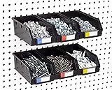 Pegboard Bins – 6 Pack Black Extra Large