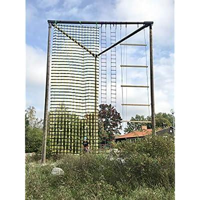 FONG Climbing Cargo Net Black 14 ft X 6 ft - Indoor Climbing net - Outdoor Cargo Webbing Net - Military Climbing Cargo Net (14ft): Toys & Games