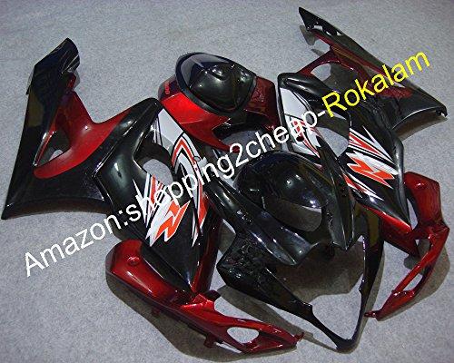 Hot Sales,New Design Fairing For Suzuki GSXR1000 GSX-R1000 2005 2006 K5 05 06 GSXR 1000 Red Black Motorbike Bodywork Fairings Kit (Injection (Gsxr1000 2005 2006 Hot Bodies)