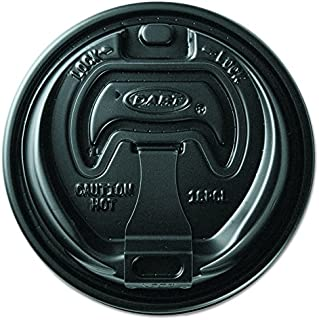 product image for Solo Cup OPT316B Optima Fully Reclosable Hot Cup Lids for 10 oz. - 24 oz. Cups, Black (Pack of 1000)
