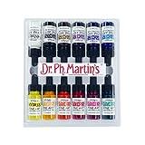 dr martins dyes - Dr. Ph. Martin's 400261-XXX Hydrus Fine Art Watercolor Bottles, 0.5 oz, Set of 12 (Set 1)