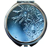 Rikki Knight Ice Crystals on Glass Window Design Round Compact Mirror