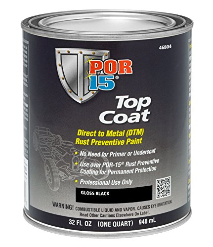 POR-15 45804 Gloss Black Top Coat - 1 quart by POR-15