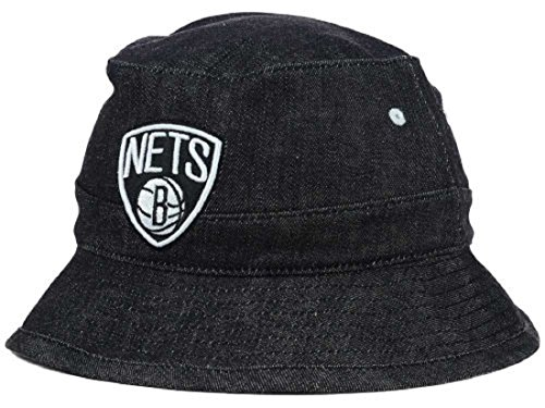 (adidas Brooklyn Nets NBA All Denim Bucket Hat - M/L)