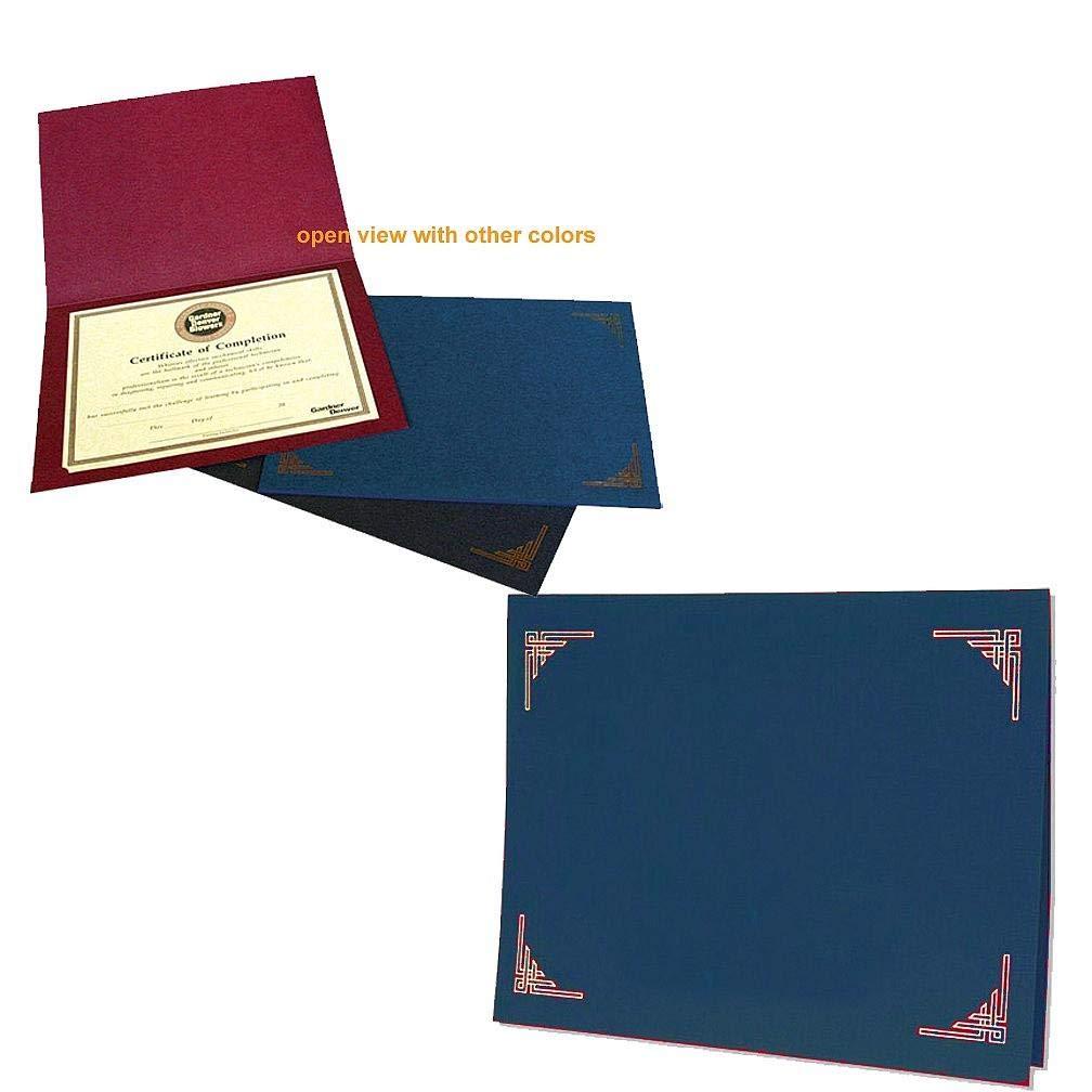 ブルー証明書フォルダの10 x 8または11 x 8.50で販売証明書25s – 8.5 X 11 B00P5TKV5A