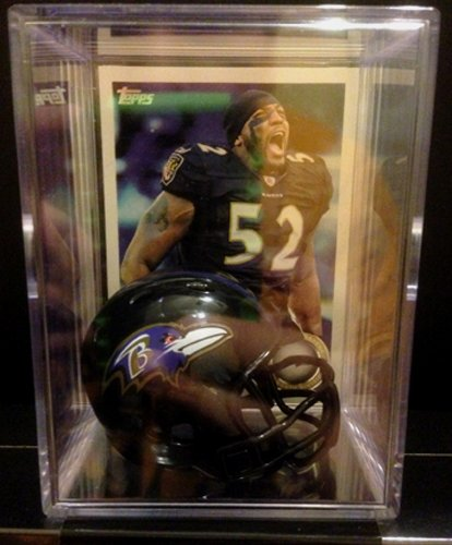 (Baltimore Ravens NFL Helmet Shadowbox w/ Ray Lewis card)