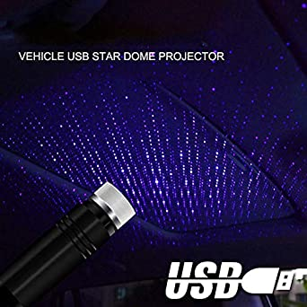 fancheng Interior Car Lights,Portable Car USB Atmospheres Starry Projector Lamp,Adjustable Lighting Mode,Romantic Atmosphere Suitable for Any Place