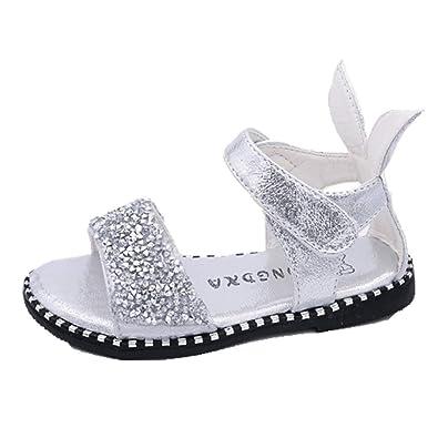 197f4f8ee434 OHmais Enfants Filles Chaussure cérémonie Ballerines à Bride Fête  Demoiselle d honneur Mariage Escarpin Plat Babies  Amazon.fr  Chaussures et  Sacs