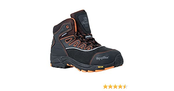7b17de092a0 RefrigiWear Men's PolarForce Hiker Insulated Waterproof Black Leather Work  Boots