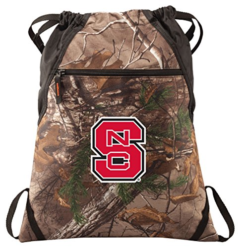 (Broad Bay NC State Cinch Pack Realtree Camo NC State Wolfpack Backpack)