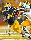 Denard Robinson Autographed Michigan Wolverines 8x10 Photo #2 - Under the Lights