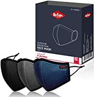 Lee Cooper Mesh Face Mask: HeiQ Viro Neutralization and Smart Temp Cooling Technology - Reusable Face Covers made...