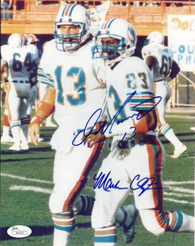 Autographed Dan Marino & Mark Clayton Miami Dolphins Photo- JSA