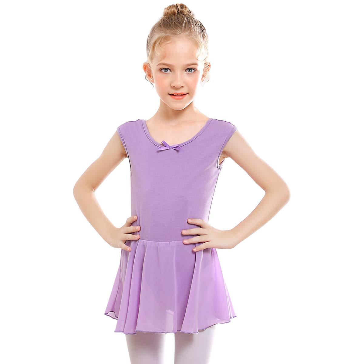 87b5c917ba3d STELLE Girl s Short Sleeve Tutu Dress Tank Top Leotard for Dance ...