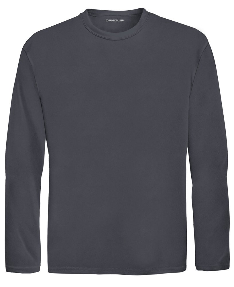 2aee3cc9f36 DRI-EQUIP Youth Long Sleeve Moisture Wicking Athletic Shirts. Youth Sizes  XS-XL