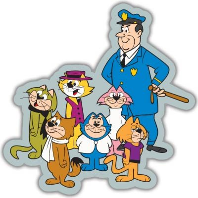 - Top Cat and the Gang vynil car sticker 4