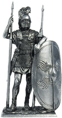 Pthemp-285 Roman Legionnaire (1st Century BC) Tin Toy Soldiers Metal Sculpture Miniature Figure Collection 54mm (Scale 1 32) (A180)