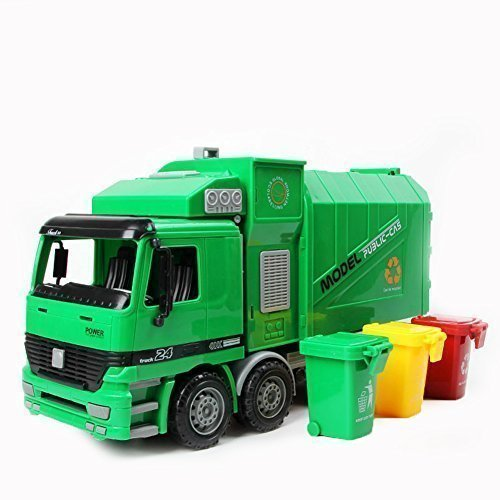 KAWO Children Garbage Truck Sanitation Trucks Toy Car Model