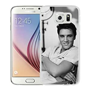 Unique Samsung Galaxy S6 Skin Case ,Fashionable And Durable Designed Phone Case With Elvis Presley 1 White Samsung Galaxy S6 Screen Cover Case
