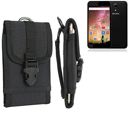 bolsa del cinturón / funda para Archos 50 Power, negro | caja del teléfono cubierta protectora bolso - K-S-Trade (TM)