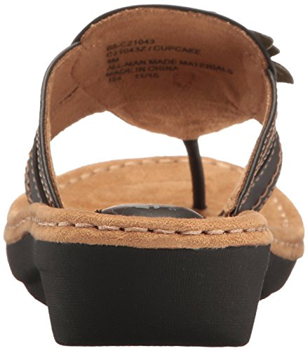 Kliffen Zwart Witte Womens Cupcakestok Wig Sandaal Zwart